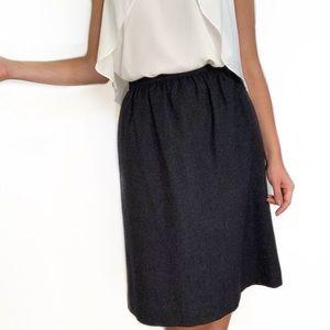 Gray Wool Skirt Pendleton Vintage 70s Full Skirt
